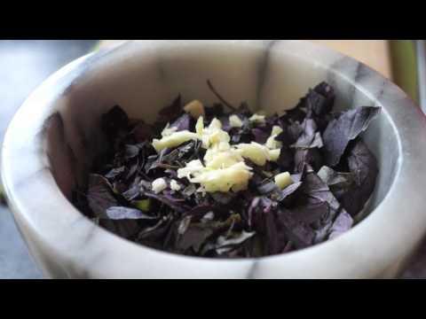 PURPLE BASIL PESTO Recipe - TheCoolKitchen