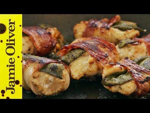 Gennaro's Chicken Bites with Bacon & Sage