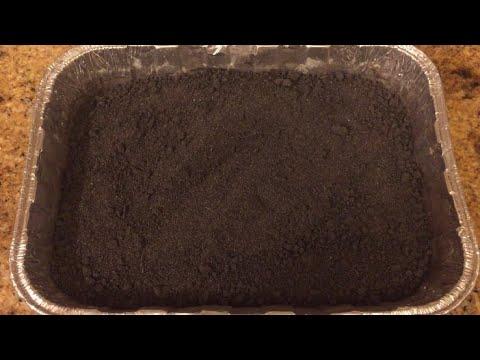 Sterilizing soil.