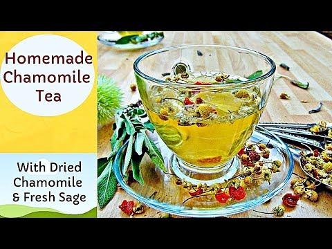 How to Make Chamomile Tea | With Chamomile Flowers and Fresh Sage | #121