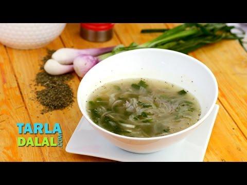 Onion Thyme Soup by Tarla Dalal