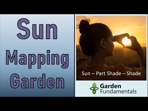 Sun Mapping Your Garden the Easy Way 🌞🌚🌗🌞Determine Sun, Shade and Part Shade
