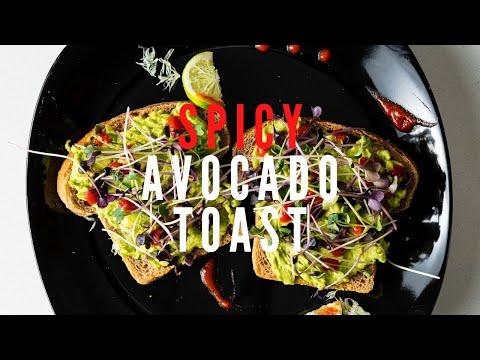 Spicy Avocado Toast with Microgreens | Vegan