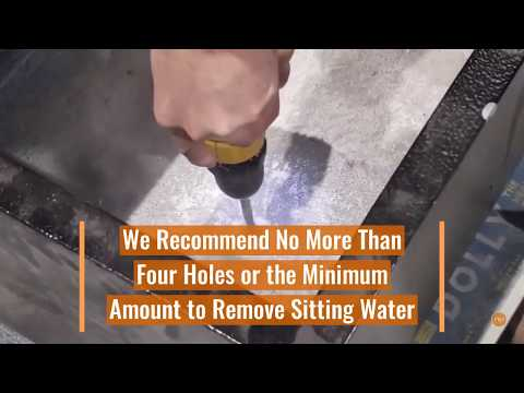 How to Drill Drainage Holes in Fiberglass Planters