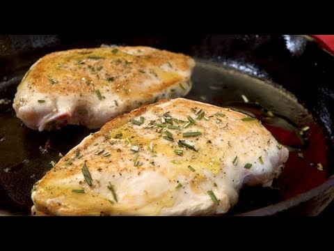 Pan Roasted Chicken Breast in 15 min with Rosemary Butter Sauce | Christine Cushing