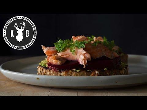 Roast Salmon, Avocado, Beetroot & Chervil | Kitchen Daddy