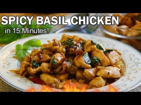 Spicy Basil Chicken in 15 Minutes