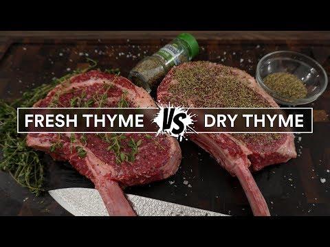 FRESH THYME vs DRY THYME on a steak for sous vide
