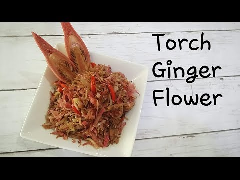 Stir Fry Torch Ginger Flower with SilverFish/Whitebaits, Tumis Teri Kecombrang/Sambal Honje,