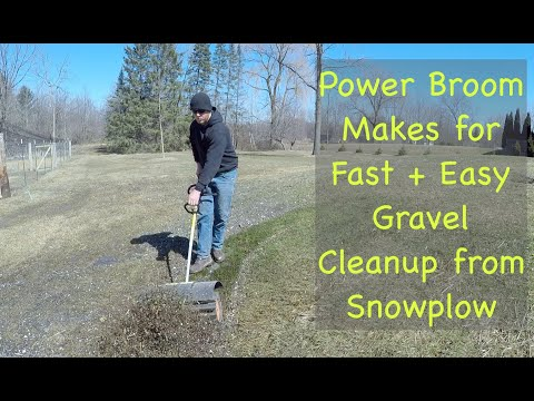 Gravel Cleanup with a Power Paddle Broom