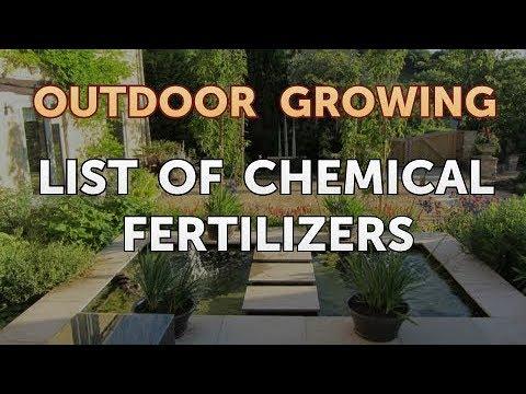 List of Chemical Fertilizers