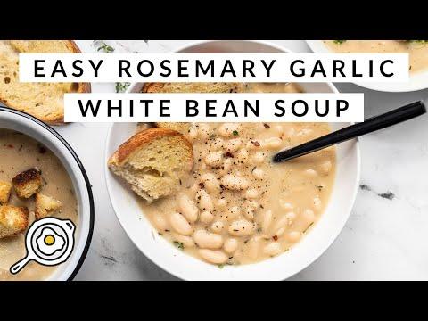 Easy Rosemary Garlic White Bean Soup