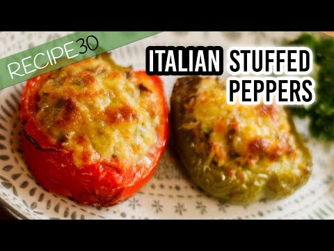 Italian stuffed peppers with cheese and herbs