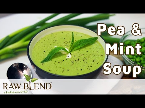 How to make Pea and Mint Hot Soup in a Vitamix Blender   Recipe Video